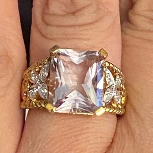 NWT. 14K Gold plated sterling silver ring size 7